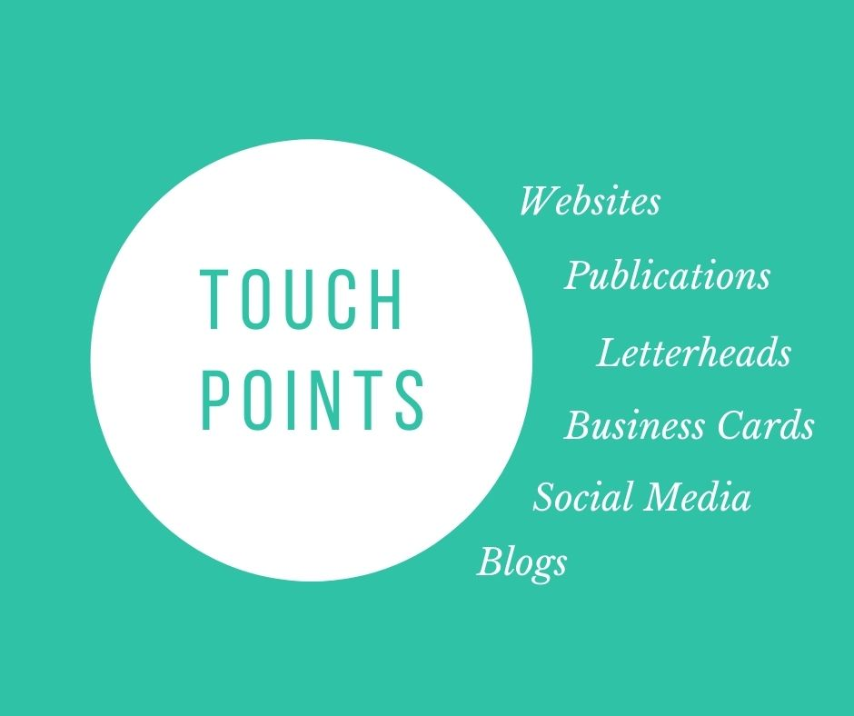 brand identity - brand touch points